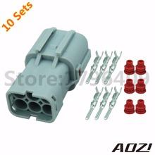 10 Sets 2mm Series 6PINS Tail Light Plug Lamp-socket Connector 7222-7464-40(China (Mainland))