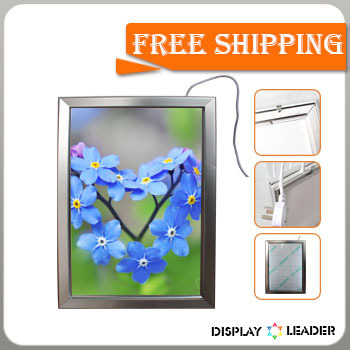 Free shipping for LED advertising Snap Frame Light Box Poster Stand Pavement Signs Led Edge Restaurant Menu Board(China (Mainland))
