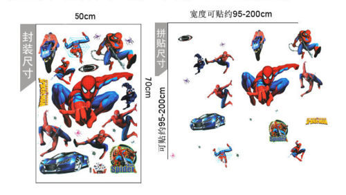 Spider man hero cartoon children kids boys room 3rd color Wall Stickers Decals HouseDecors Mural house