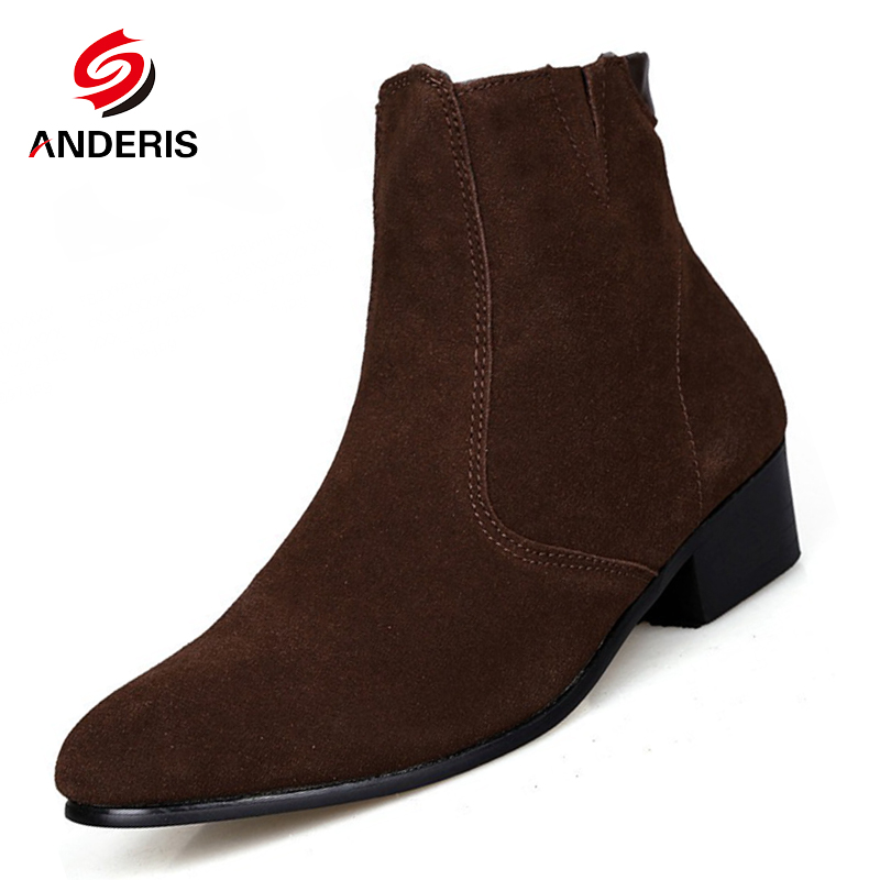 chelsea boot men suede hombre martin boots low heel nubuck leather ankle boots vintage casual. Black Bedroom Furniture Sets. Home Design Ideas
