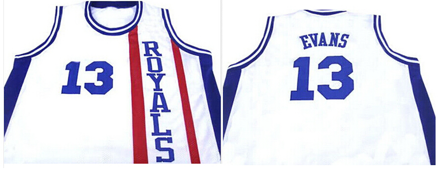 #13 TYREKE EVANS JERSEY CINCINNATI ROYALS RETRO BASKETBALL WHITE MEN'S Embroidery THROWBACK S-3XL