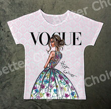 Track Ship+New Vintage Retro T-shirt Top Tee Flower Dressed Fashion Lady Thin Back Girl Model 0950(Hong Kong)