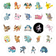 24 Pcs/Set High Quality Xmas Gifts Pokemon Go Badge Brooch Small Toy Zinic Alloy Brooch Cartoon Action Figures Anime Cosplay Toy