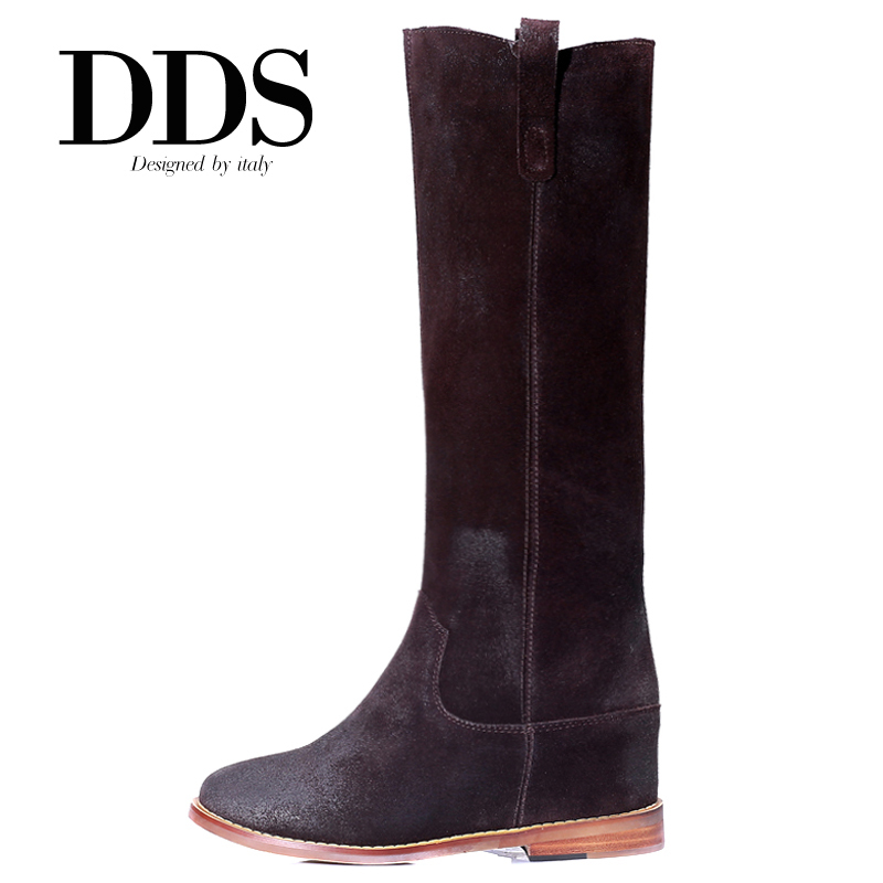 DDS Women Winter Boots Genuine Leather Knee High Isabel Marant Boots Woman Ladies Autumn Boots Botas Femininas Plus Size 40-43(China (Mainland))
