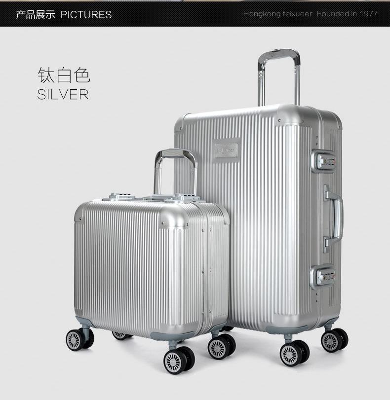 "26"" 29"" 100% aluminum magnesium alloy Rolling spinner Hardside luggage suitcases EMS free shipping(China (Mainland))"
