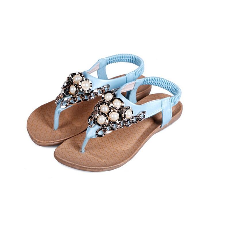 2015 summer genuine leather sweet flip rhinestone wedges sandals low-heeled shoes women's beach flip-flop(China (Mainland))