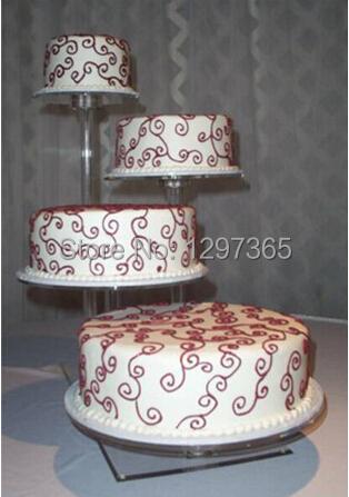 Aliexpress Buy 4 Tier Beautiful High Clear Detachable Cheap Acrylic Wedding Cake Stand