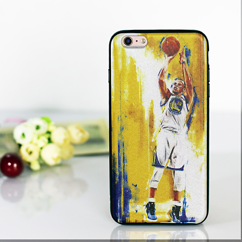 "High quality soft TPU basketball star cover for Iphone 6s case, Luxury coque cartoon 4.7"" Printed cases for iphone 6 cover(China (Mainland))"