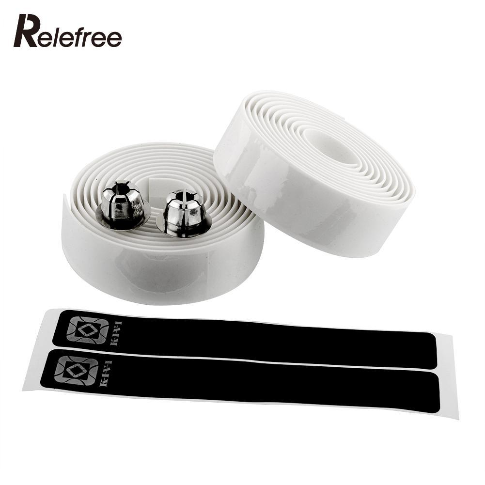 2pcs Cycling Road Bike Bicycle Cork Handlebar Handle Bar Wrap Tape White with Bar Plugs Free shipping(China (Mainland))