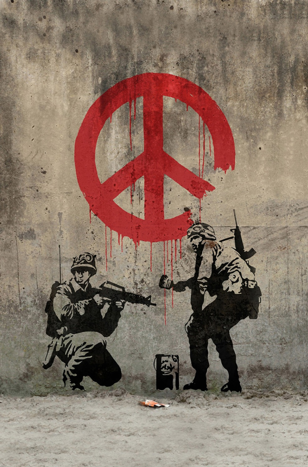 "Banksy Peace Art Graffiti Artist Fabric Poster 36"" x 24"" 20""x13""--01(China (Mainland))"