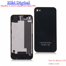 New glass back cover for iphone 4 4G repair parts replacement battery cover glass cover Free shipping