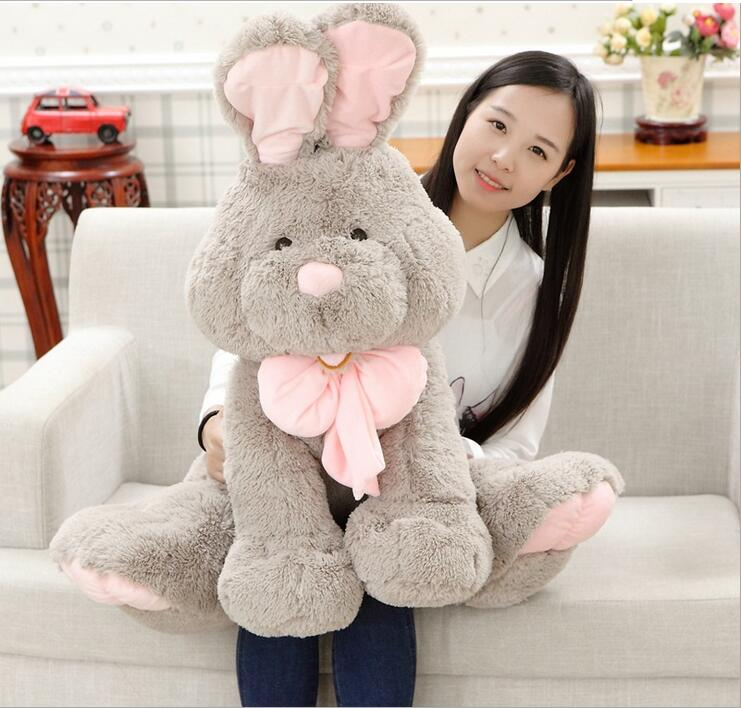 1pc 80cm The Explosion The United States Costco Plush Bunny Plush Rabbit ,High Quality ,Long Ear Rabbit Cute Toy For Girl(China (Mainland))