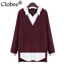 Buy blusas de manga longa large Size Shirts elegant 2017 women Clothing Autumn Winter Women blouses Casual V-Neck Tops CP119 for $12.90 in AliExpress store