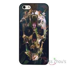 Skull and Animals Abstract Art back skins mobile cellphone cases for iphone 4/4s 5/5s 5c SE 6/6s plus ipod touch 4/5/6