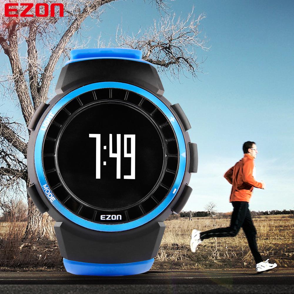 Hot Sale Luxury Brand EZON T029B07 Multifunctional Mens Digital Watches Waterproof Pedometer Calorie Counter(China (Mainland))