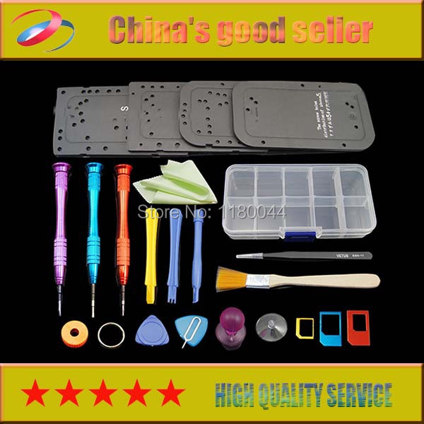 High quality 22 in 1 Opening Disassemble Repair Magnetic Screwdriver Tools Kit Set For iPhone 4/4s/5/5s(China (Mainland))