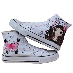 Korean version attractive lady hand-painted shoes Z-B1075 - High fashion street store