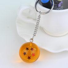 Alta qualidade Estilo dos desenhos animados do Anime Cosplay Bola Dragão Bola de Cristal 1 7-7 Estrelas Chaveiro PVC figura brinquedos Chaveiro boneca cabide 3cm(China)