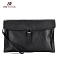 Difenise Genuine First Layer cowhide leather men s Handbags Craft Vegetable Tanning Business Day Clutches Casual