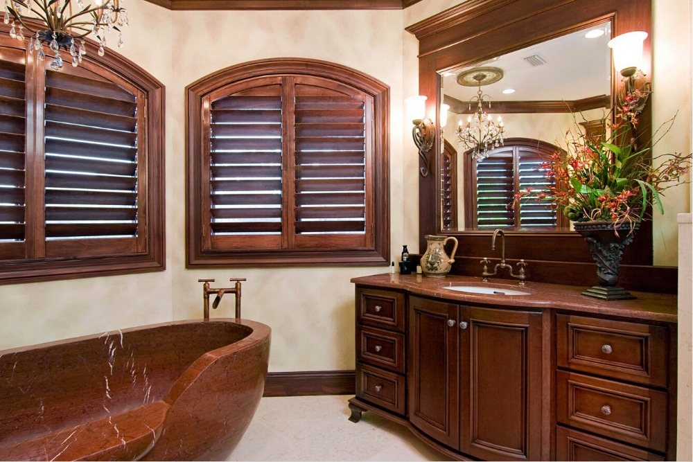 Popular wood louvered shutters buy cheap wood louvered for Best wood window brands