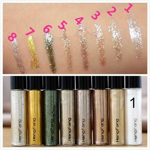 Professional Cosmetics Shining Bronzer Gold Eye Shadow 7 Colors Eyeshadow Shimmer Glitter Shining Makeup maquiagem Free Shipping(China (Mainland))