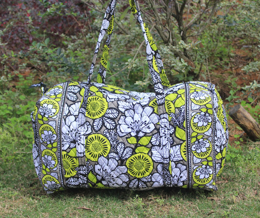 VB BAG Large Duffel in Citron Free shipping T61(China (Mainland))