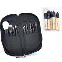 New 9pcs Professional Soft Cosmetic Makeup Brush Set Kit + Zipper Pouch Bag Case