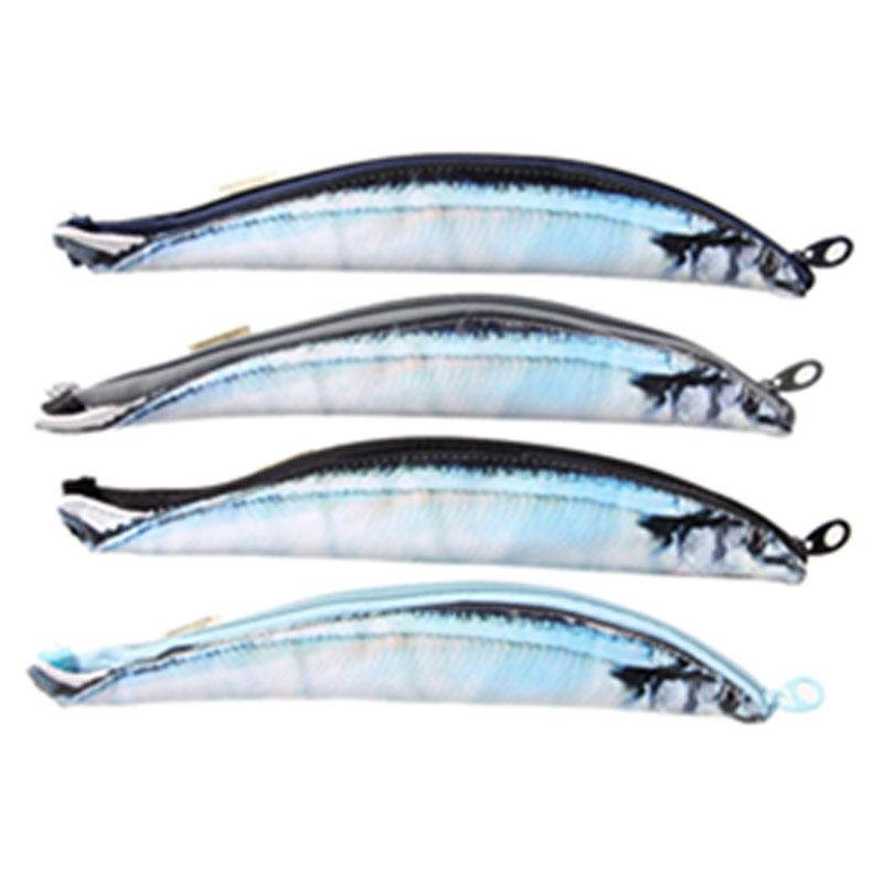 Creative design real fish like zipper school pen pouch for Realistic fish pencil case