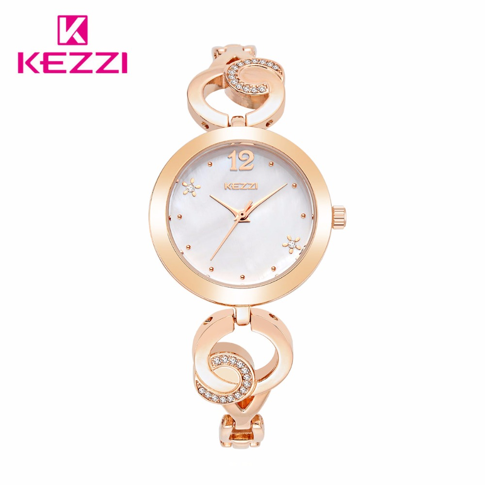 KEZZI Brand New Fashion Watch Women Luxury Unique Design Bracelet Elegant Dress Watch Ladies Popular Banquet Quartz Wristwatch(China (Mainland))