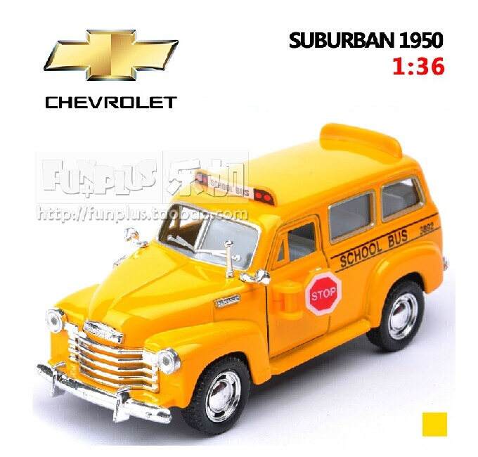 High Simulation Exquisite Model Toys: Chevrolet American School Bus Model SUBURBAN 1950 1:36 Alloy Car Model Excellent Gifts(China (Mainland))