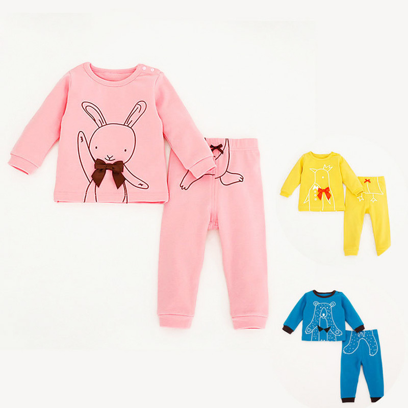 Spring&Autumn 2016 New Baby Girl & Boy Character Rabbit Clothing Set Cotton Newborn Kids Casual Clothes 2Pcs T-shirt+Leggings(China (Mainland))