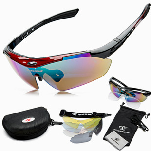 Hot Outdoor Sports Men Women Bike Sun Glasses Shade Ski Eyewear Goggle Sunglasses Cycling Bicycle Driver 5 Lenses Glass Sunglass(China (Mainland))