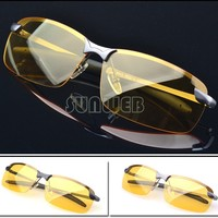 Men's Polarized Driving Sunglasses Yellow Lens Night Vision Driving Glasses Goggles Reduce Glare 50