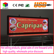 P5     SMD3528 LED  display panel  indoor advertising RGB 7 color advertisement size:103cmX39cm(40''x15'')  led sign(China (Mainland))