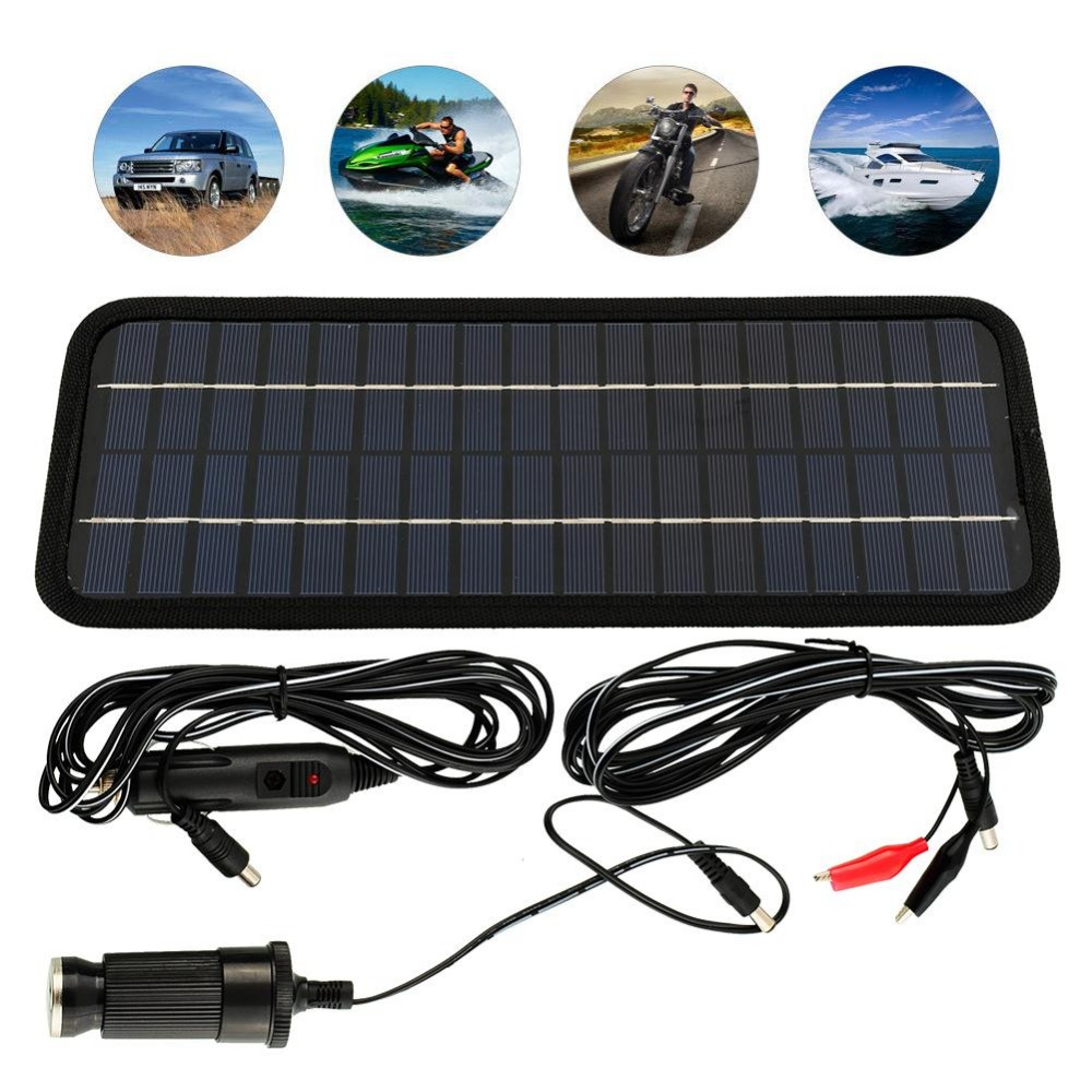 2015 Smart Multi Purpose Portable Solar Panel Power Battery Charger 12V 5W for Car RV Car boat Motorcycle Car Charger Solar <br><br>Aliexpress
