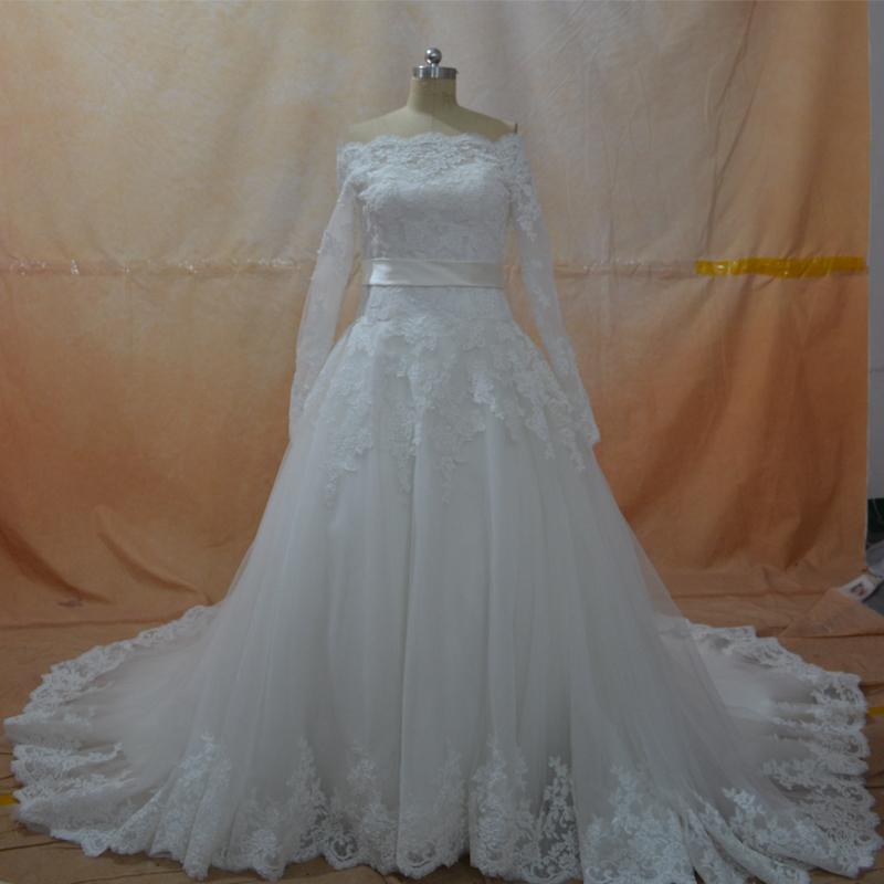 Buy vintage a line off the shoulder long for Vintage off the shoulder wedding dresses