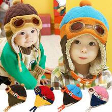 Winter Baby Earflap Toddler Girl Boy Kids Pilot Aviator Cap Warm Soft Beanie Hat (China (Mainland))