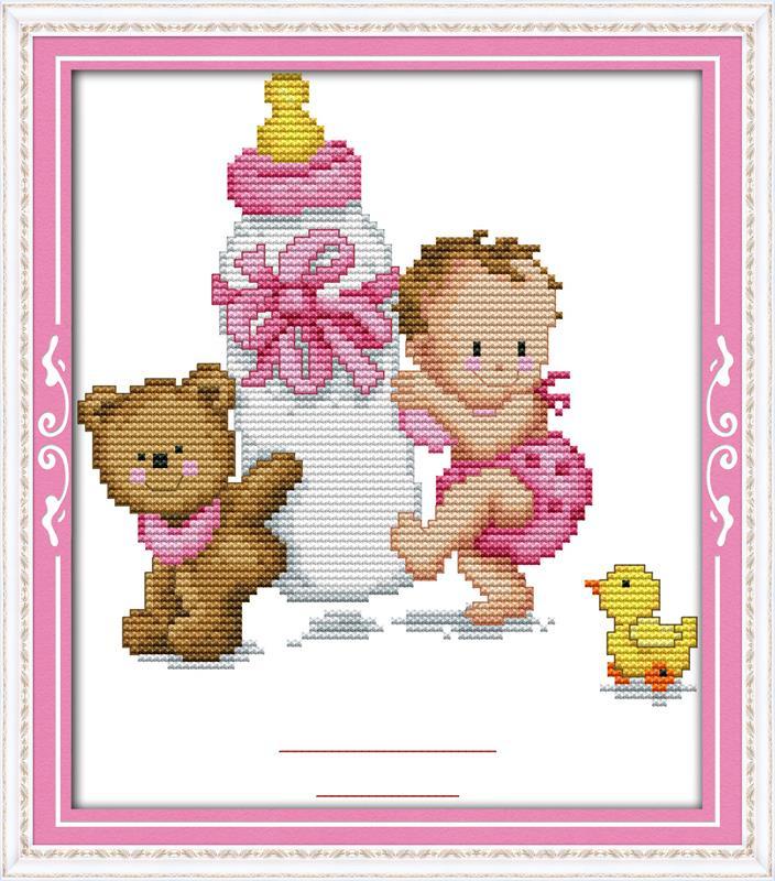 156Вышивка крестом метрика для новорожденных схемы мальчиков