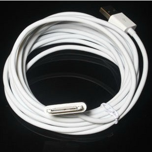 free shipping 10pcs/lot 3m 10ft Long USB Cable Sync Date Cable for Apple iPhone 4 4S for ipad High Quality