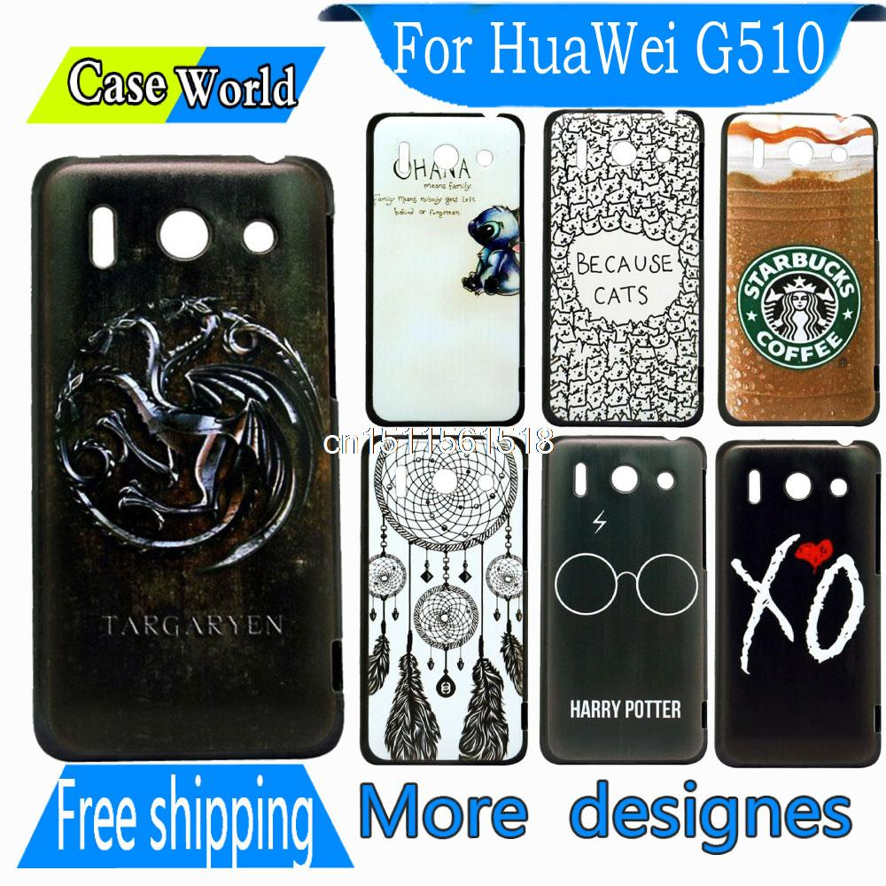 Hot Sale Durable Luxury New Arrival Game of Thrones Targaryen New Hard back Phone Snap Cover Case For Huawei Ascend G510(China (Mainland))