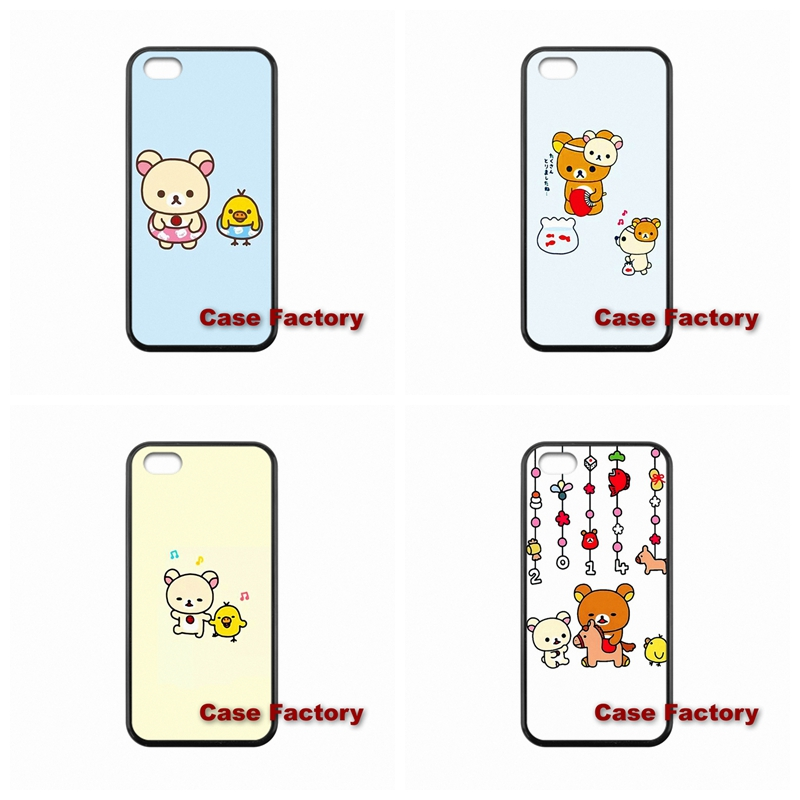 TPU Hard Plastic lovely Rilakkuma First Series For BlackBerry 8520 9700 9900 Z10 Q10 Samsung S4 S5 S6 Active Win S Duos2(China (Mainland))