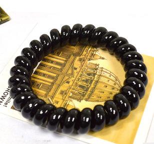 New Fashion Women Black Hair Bands Telephone Line Plastic Hair Accessories High Elastic For Hair(China (Mainland))