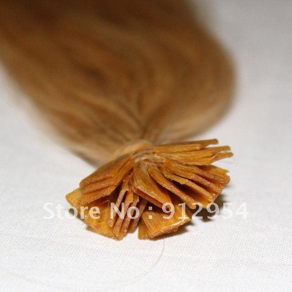 1.0g/ Strand silk staight Indian Virgin Hair /flat shape stick Tip hair/light blonde/18-26inch<br><br>Aliexpress
