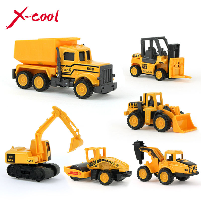 XC1355C 8 tipos mini Diecast liga Carro Engenharia veículo de construção Caminhão Dump-carro Modelo Brinquedo Clássico Buy 6 get 2 livre(China (Mainland))