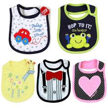 Mejores ventas de algodón baberos para bebés toalla carreteros baberos para bebés lactantes Saliva toallas bebé de la historieta ropa ropa WZ13(China (Mainland))