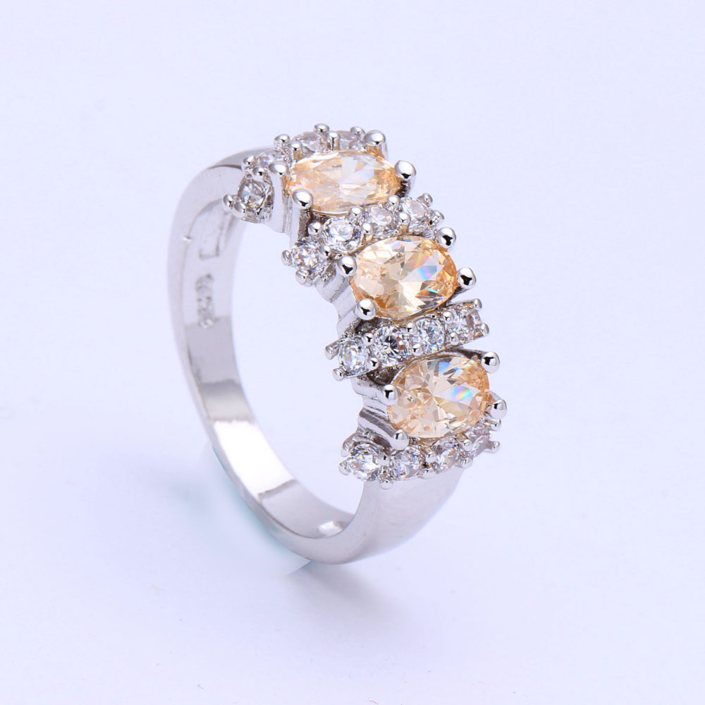 Aliexpress Buy jewellery champagne Czech zircon finger ring women Princ