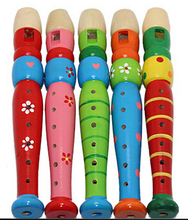 Free shipping 1pcs Wooden color the flute Educational Baby toys Learning activities gift