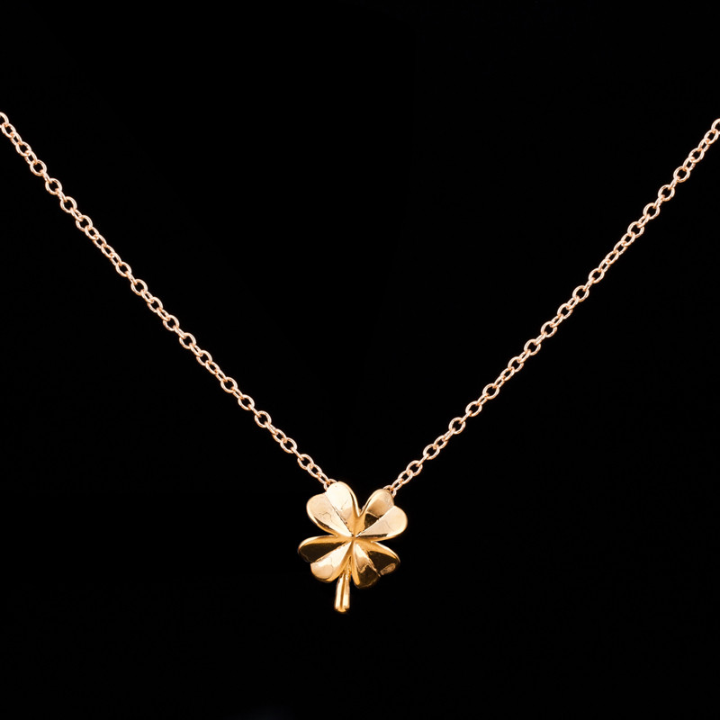 1 Fashion Best Friends Gift Shamrock Necklace 2016 Silver 18K Gold Layer Lucky Tiny Four Leaf Clover Charm - CC Helen store