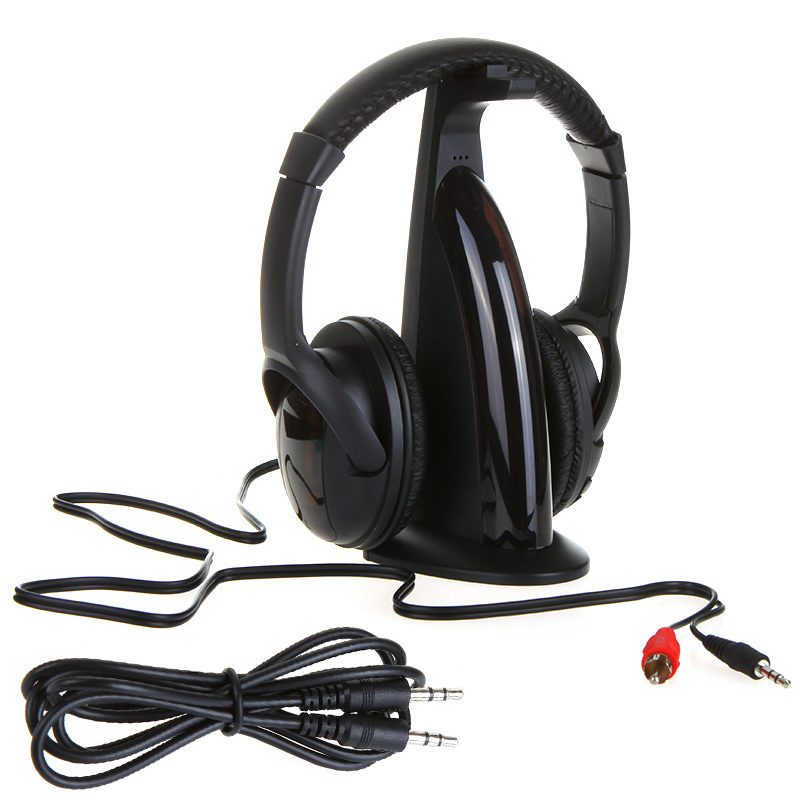 Multifunction 5 1 HiFi Wireless Headphones Earphones Hi-Fi Headset Monitor FM Radio MP3 TV Audio Phones - ShenZhen Electronics-Mall store