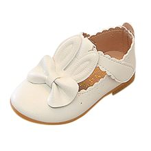 รองเท้า 2019 รองเท้าสบายๆรองเท้าผ้าใบแฟชั่นน่ารักกระต่าย Bowknot รองเท้าหนังฤดูใบไม้ผลิฤดูใบไม้...(China)